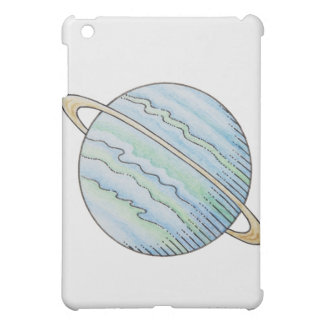 Illustration of planet with ring iPad mini case
