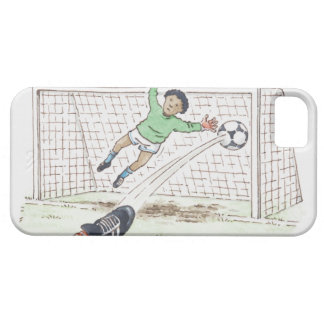 Illustration of player's foot kicking football iPhone 5 covers