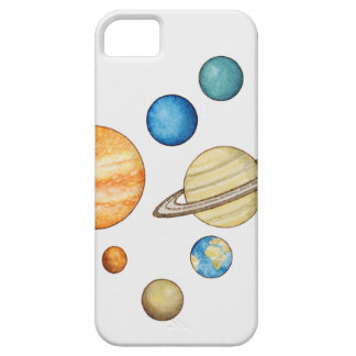 Illustration of the planets of the solar system barely there iPhone 5 case