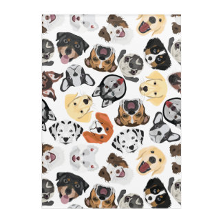 Illustration Pattern Dogs Acrylic Print