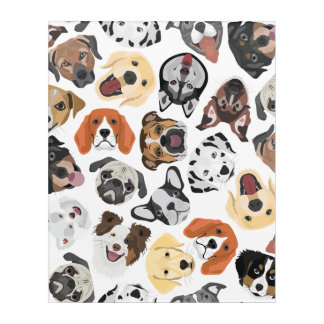 Illustration Pattern sweet Domestic Dogs Acrylic Print