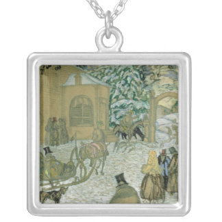 Illustraton for 'Dubrovsky', by Alexander Pushkin Silver Plated Necklace