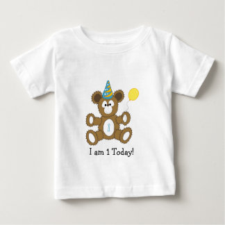 I'm 1 today! First Birthday Bear BOY Baby T-Shirt