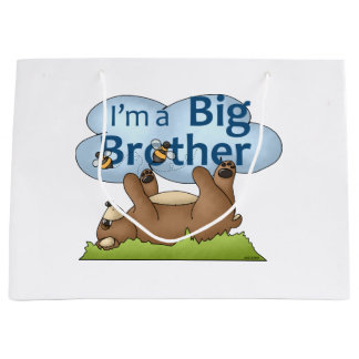 I'm a Big Brother bear Large Gift Bag