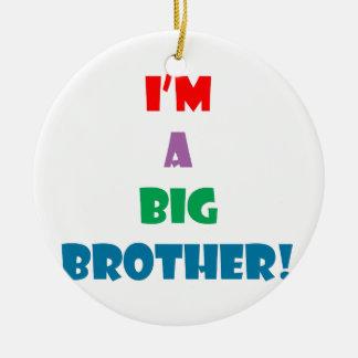 I'm a big brother text round ceramic decoration