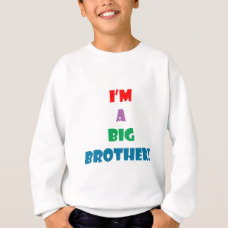 I'm a big brother text sweatshirt
