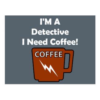 I'M A Detective, I Need Coffee! Postcard