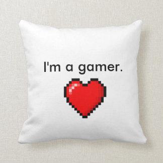 I'm a Gamer Heart Throw Pillow