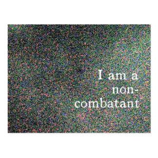 i'm a non-combatant postcard