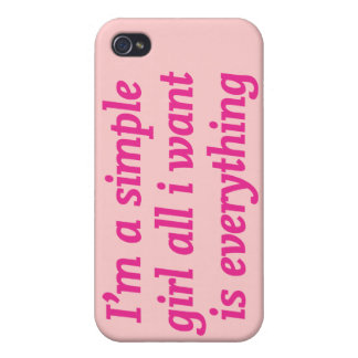 I'm a simple girl cases for iPhone 4