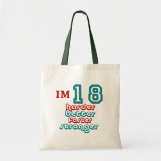 I'm Eighteen. Harder Better Faster Stronger! Birth Canvas Bags