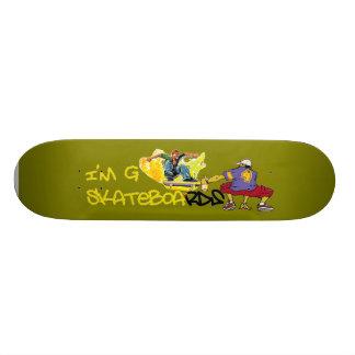 I'm G Skateboard-Graffiti - green/yellow 18.1 Cm Old School Skateboard Deck