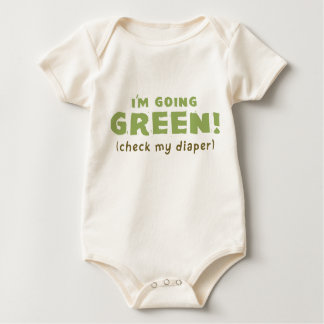 I'm Going GREEN! (check my diaper) Baby Bodysuit