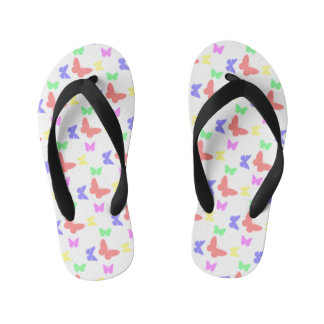 I'm Happy! kids butterfly Flip Flops Thongs