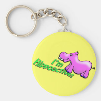 I'm Hippoactive Key Ring