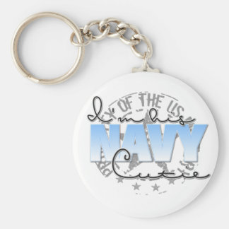 I'm His Navy Cutie Basic Round Button Key Ring