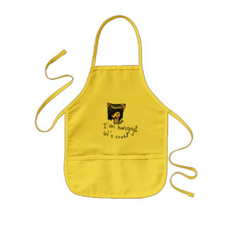 I'm hungry kids apron