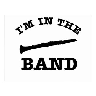 I'm in the band Oboe designs Postcard
