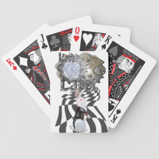 """I'm Late!"" White Rabbit Pack (Wonderland Col.) Bicycle Playing Cards"