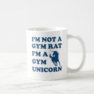 I'm not a gym rat gym unicorn coffee mug