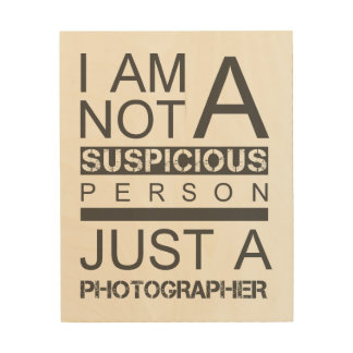Im not a suspicious person wood art