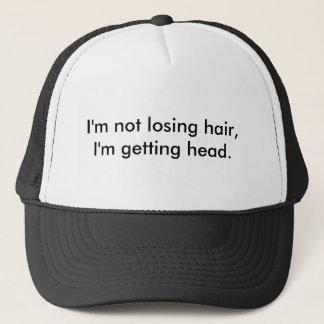 I'm not losing hair,I'm getting head. Trucker Hat