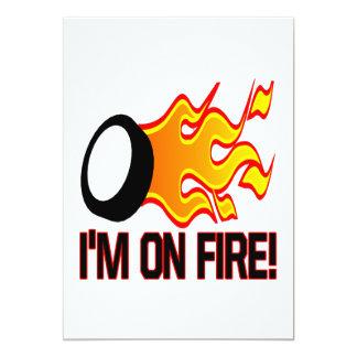 Im On Fire 13 Cm X 18 Cm Invitation Card