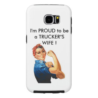 I'm proud to be a trucker'Samsung cell phone case