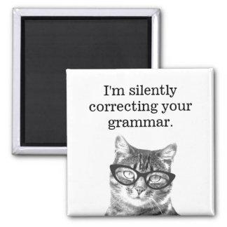 I'm silently correcting your grammar fridge magnet
