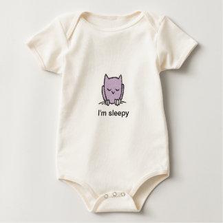 """""""I'm sleepy"""" Infant Organic Creeper"""