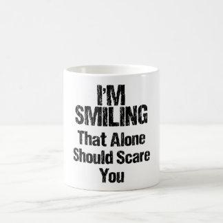 I'm Smiling - Funny Basic White Mug