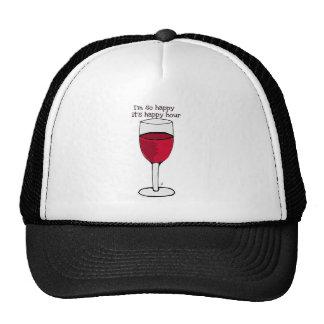 I'M SO HAPPY IT'S HAPPY HOUR...wine print by jill Trucker Hat