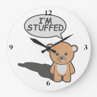 I'm Stuffed Teddy Bear Wall Clock