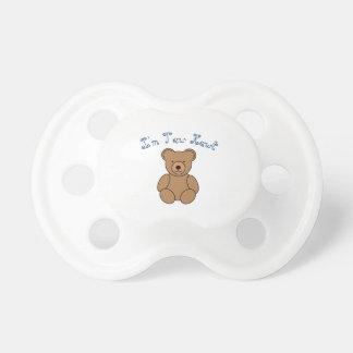 I'm Tew Kewt Bear Baby Pacifier