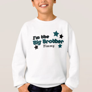 I'm The Big Brother In Teal & Black Sweatshirt