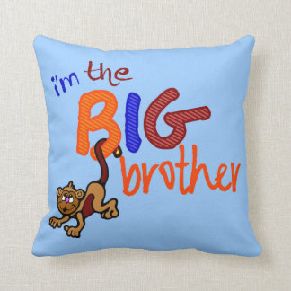 I'm The Big Brother Monkey Throw Pillow