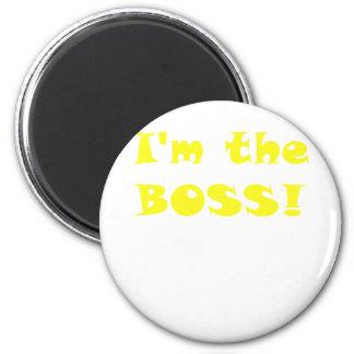 Im the Boss 6 Cm Round Magnet