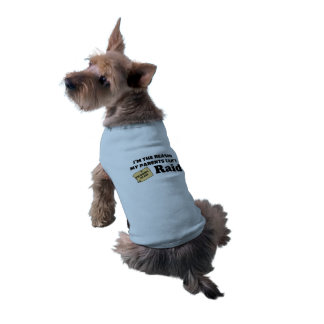 """I'm the reason my parents can't raid!"" Doggy Tee Sleeveless Dog Shirt"