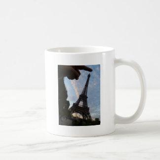 I'm touching the Eiffel Tower Basic White Mug