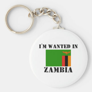 I'm Wanted In Zambia Basic Round Button Key Ring