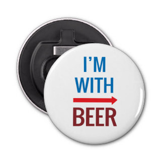 I'm With Beer Bottle Opener