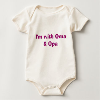 I'm with Oma & Opa Baby Bodysuit