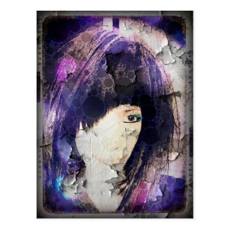 I'm with Wig Purple Postcard