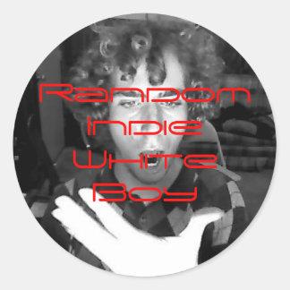 Image23, Random Indie White Boy Classic Round Sticker