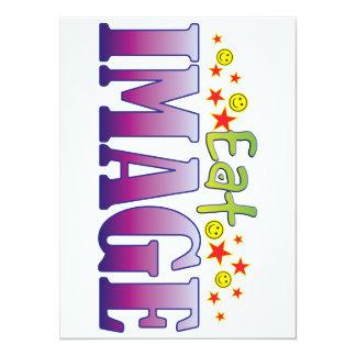 Image Eat 14 Cm X 19 Cm Invitation Card