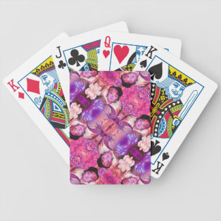 image.jpegink Purple Vintage Woman Abstract Bicycle Playing Cards
