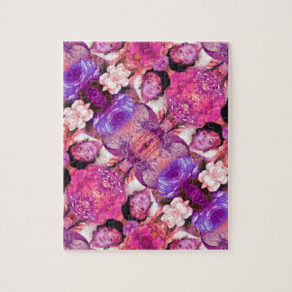 image.jpegink Purple Vintage Woman Abstract Jigsaw Puzzle