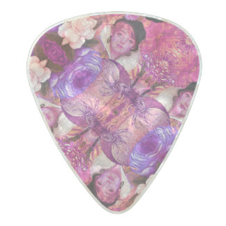 image.jpegink Purple Vintage Woman Abstract Pearl Celluloid Guitar Pick