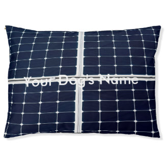 Image of a solar power panel funny pet bed