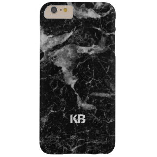 Image Of Black & Grey Marble Texture Barely There iPhone 6 Plus Case